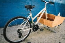 Stock, re-purposed bicycle