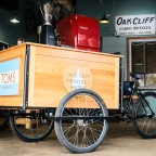 Exclusive:  TOMS coffee now available on an Oak Cliff Cargo Bicycle!